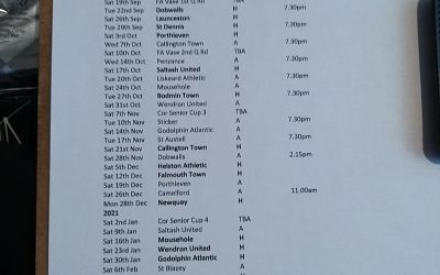 South West Peninsula Football League Premier West Fixtures Released