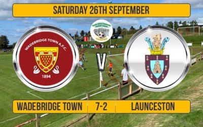 Match Report: Wadebridge Town 7 v 2 Launceston