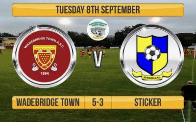 Match Report: Wadebridge Town 5 v 3 Sticker