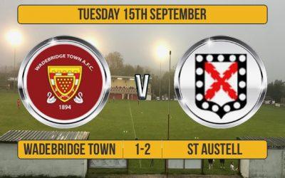 Match Report: Wadebridge Town 1 v 2 St Austell