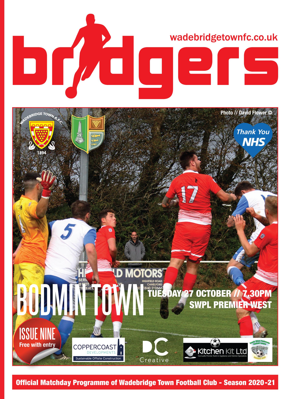 Bridgers Front Cover Bodmin 2020-21