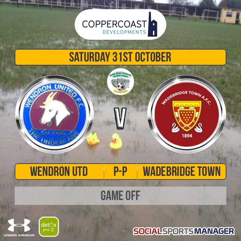 Wendron United v Wadebridge Town Off