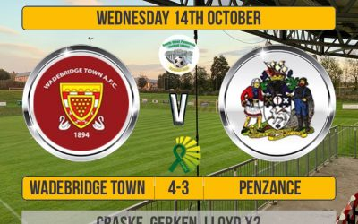 Match Report: Wadebridge Town 4 v 3 Penzance