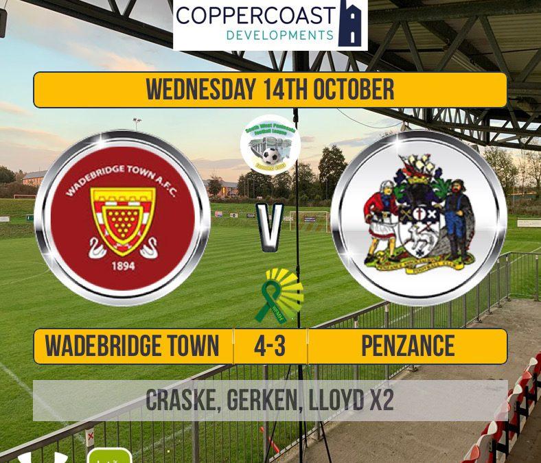 Match Report: Wadebridge Town 4 v 3 Penzance