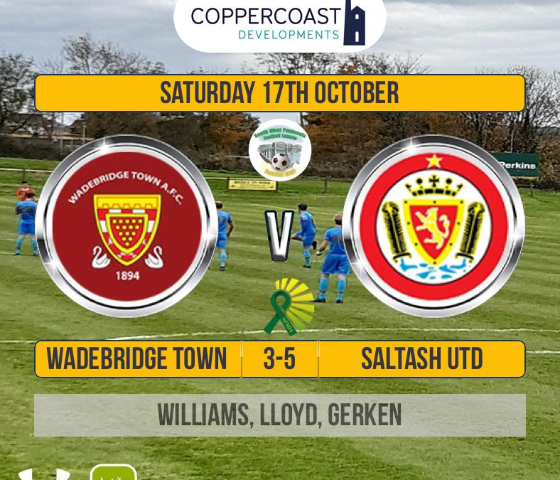 Match Report: Wadebridge Town 3 v 5 Saltash United