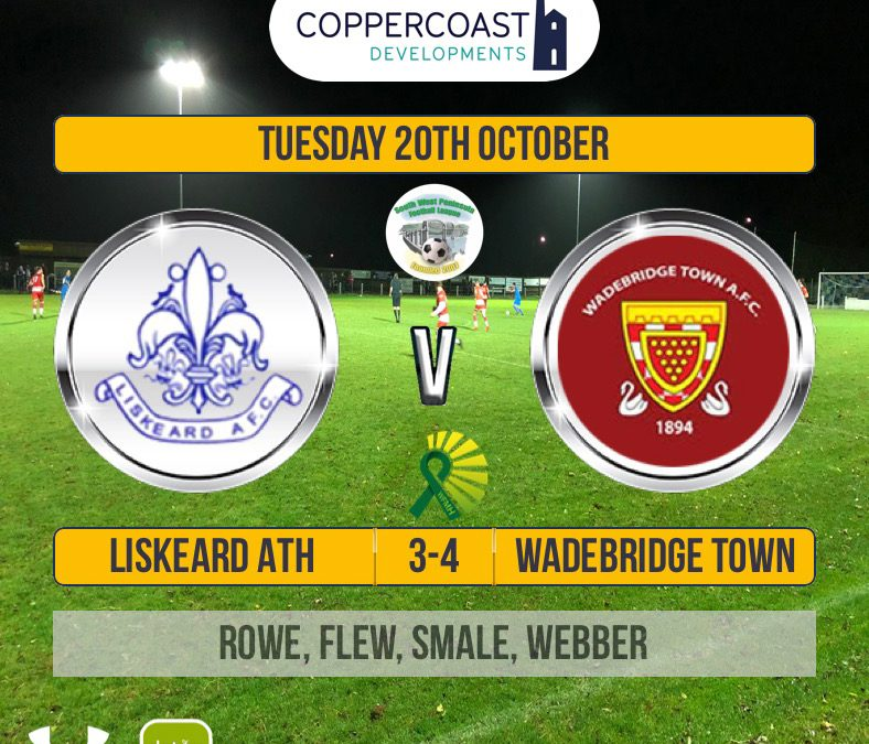 Match Report: Liskeard Athletic 3 v 4 Wadebridge Town