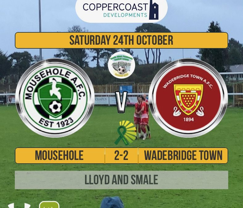 Match Report: Mousehole 2 v 2 Wadebridge Town