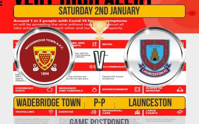Game Postponed: Senior Cup Wadebridge v Launceston