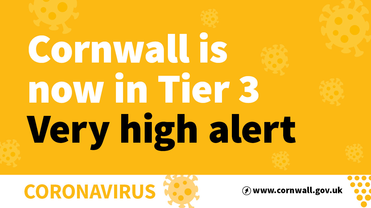 Cornwall is now in Tier 3