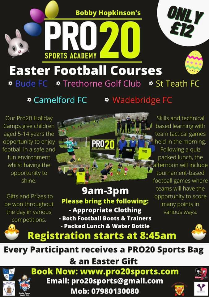 Pro20 Soccer Academy Easter Courses