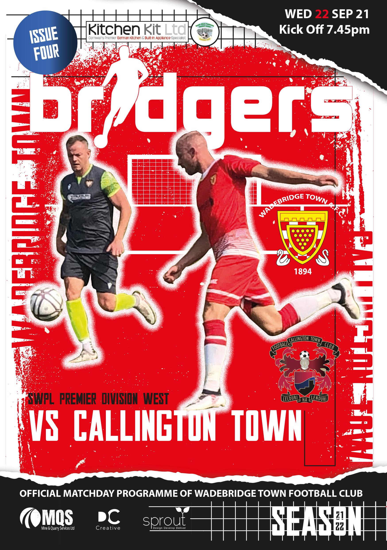 Matchday Programme: Callington Home 2021