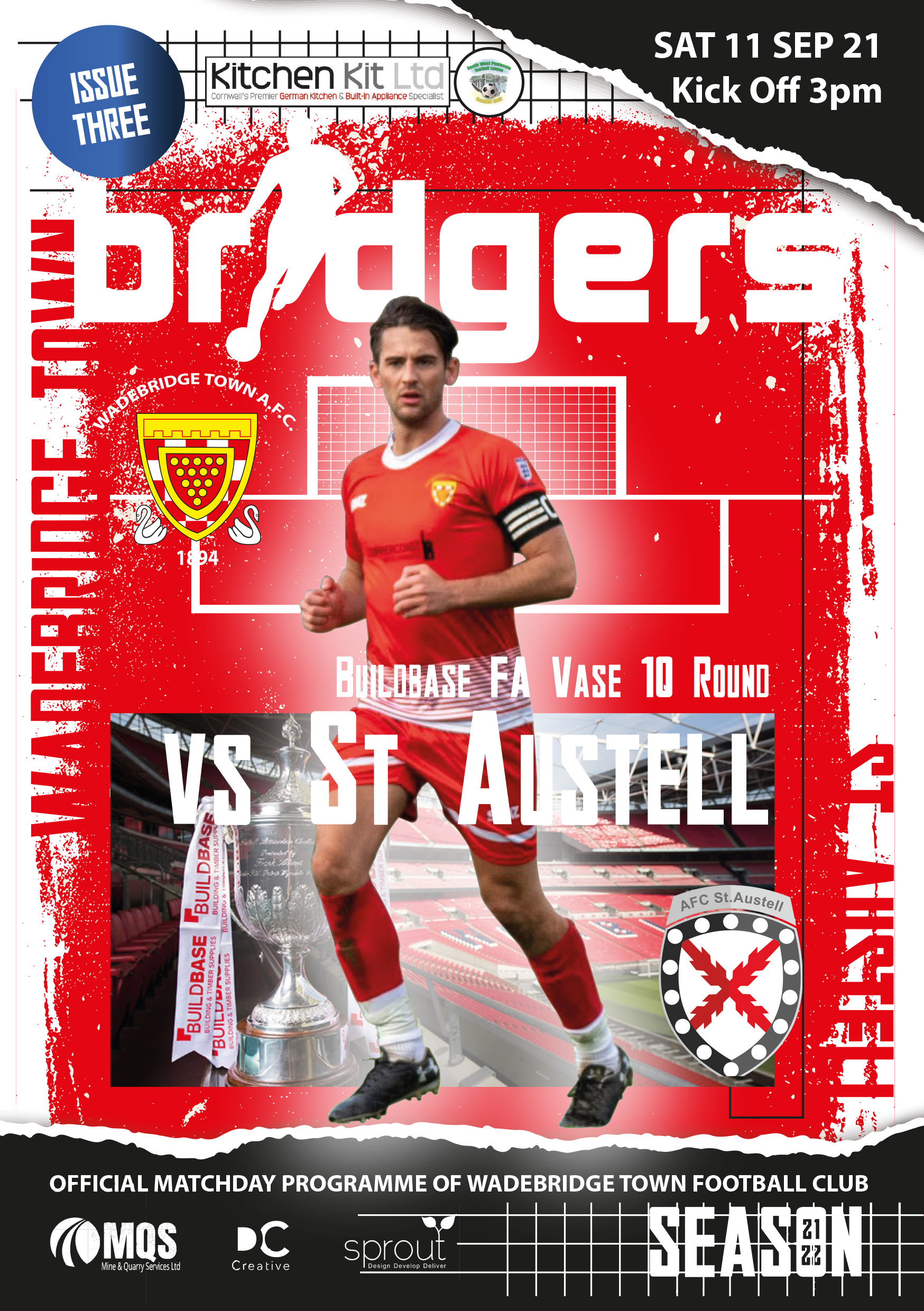 Matchday Programme - FA Vase St Austell Home 2021