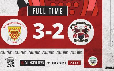 Match Report: Wadebridge Town 3 v 2 Callington Town
